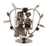 Metall-Hochzeitspaar auf Schaukel h=24cm