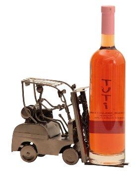 Wein-Flaschenhalter 'Gabelstapler'