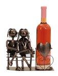Wein-Flaschenhalter 'Paar a.Bank' h=22cm