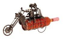 Wein-Flaschenhalter'Motorrad m.Paar'