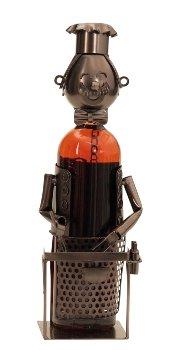Wein-Flaschenhalter 'Barbecue' h=34cm