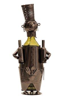 Wein-Flaschenhalter 'Barkeeper' h=38cm