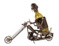 Wein-Flaschenhalter'Motorradfahrer'h=36,