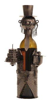 "Metal Wine-bottle holder ""birthday"""