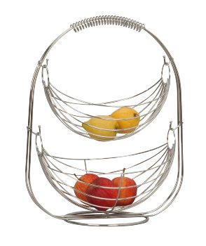 Metal fruit swing chromed standing with