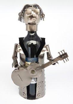 """Metal Wine-bottle holder """"guitar player"""""""