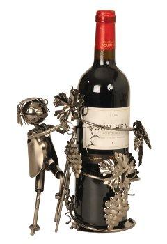 """Metal Wine-bottle holder """"wine worker"""""""