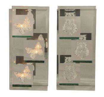 Glasteelichthalter Eule+Schmetterling