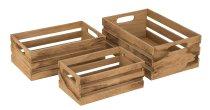 Holzkisten 3er-Set h=10+11,5+13,5cm