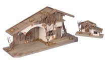 Wooden house h=37cm w=80cm + small house