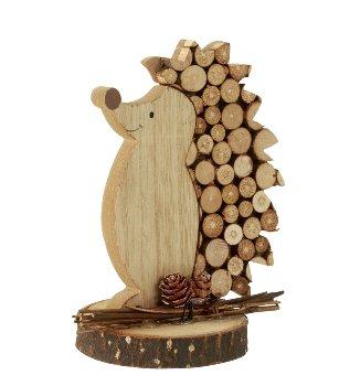 Holz-Igel h=14cm sort.