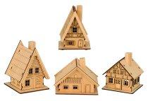 Häuser f. Räucherkegel h=11-12,5cm sort.