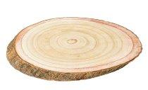 Baumscheibe mit Rinde ca. 32x22,5x3cm