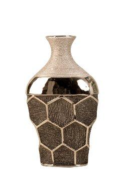 Vase silber Wabenmuster h=29,5cm