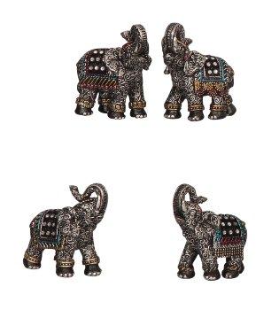 Elefant mit Glitzersteinen h=6,5-7cm
