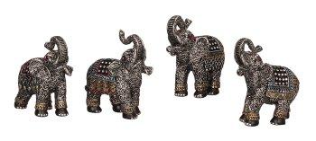 Elefant mit Glitzersteinen h=10cm sort.