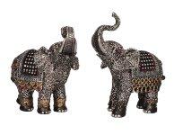 Elephant with glitter stones h=14,5+16cm