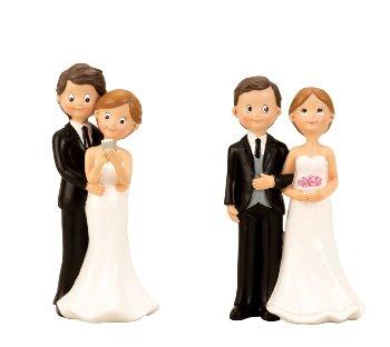 Hochzeitspaar stehend h=17cm sort.