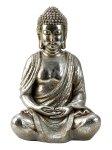 Buddha sitzend silbern h=48cm b=31cm
