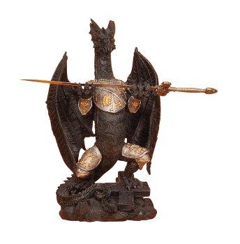 Drachen mit Rüstung + Metallschwert