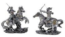 Knight on horse h=16cm w=16cm asst.