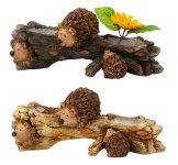 Holzstamm zum Bepflanzen mit Igeln