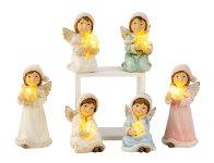 Engel mit LED-Licht in Hand h=7,5-10,5cm