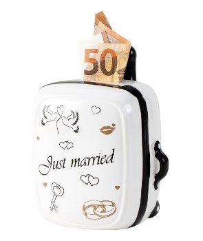 "Koffer-Spardose Trolley ""Just married"""