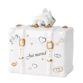 "Koffer-Spardose ""Just married"" h=10,5cm"