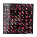 Glas-Mini-Baumschmuck 4cm, bordeaux rot,