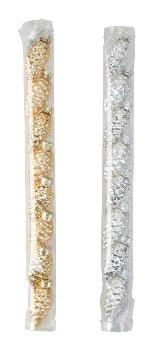 Glas-Mini-Zapfen h=5,5cm, gold&silber