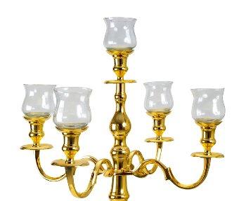 Glaseinsätze groß für Kerzenleuchter