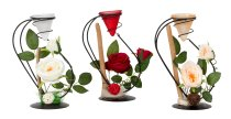 Metal decoration with rose and
