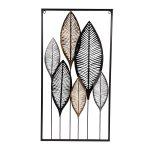 """Moderne Metall-Wanddekoration """"Blätter"""""""