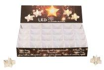 LED-Teelicht sternenform in silber
