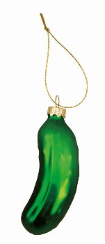 Xmas-Glasgurke grün z.Hängen h=9cm