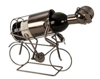 Wein-Flaschenhalter 'Rennradfahrer'