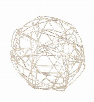 Drahtkugel silber d=4cm, 24 Stk./Beutel