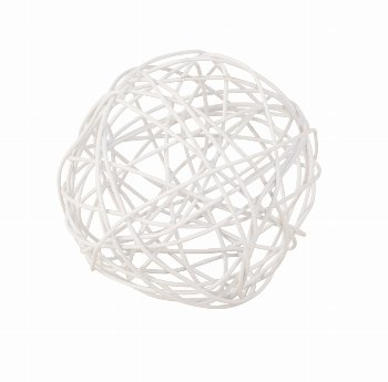 Drahtkugel weiß d=5cm, 24 Stk./Beutel