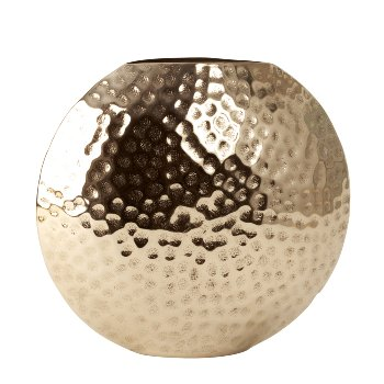 Vase glänzend vernickelt h=27cm