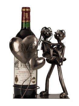 Wein-Flaschenhalter 'Liebespaar Love'