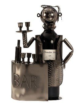 Wein-Flaschenhalter 'Barkeeper' h=32,5cm
