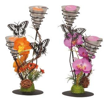 Teelichthalter mit Schmetterlingen
