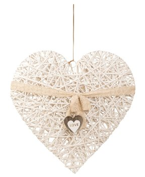 Herz zum Hängen XXL aus Weide h=80cm