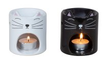 Verdunster Katze schwarz & weiß h=9cm