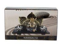 Teelichthalter-Set mit Buddha