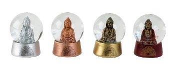 Schneekugel Buddha h=6cm d=4cm sort.