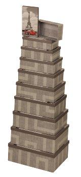Boxen mit Eifel-Turm & Auto-Motiv
