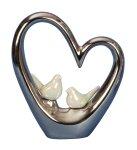 Herz-Skulptur silber mit 2 kleinen