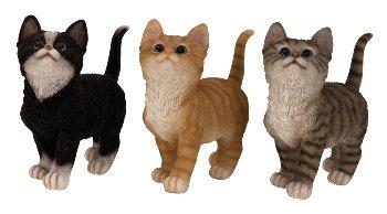 Katze stehend h=19,5cm l=19cm sort.
